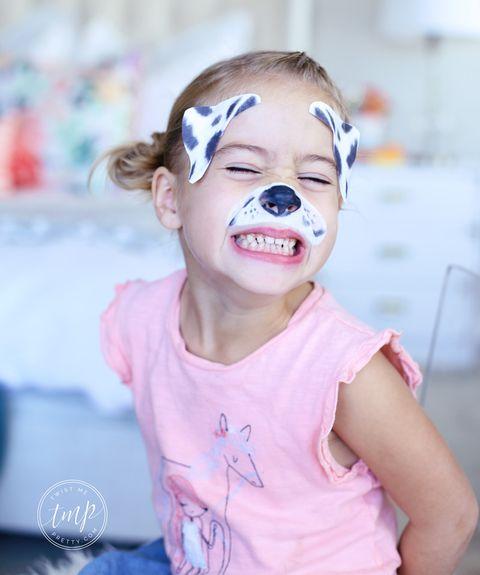 halloween face paint ideas   dalmatian dog