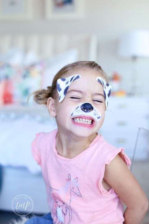 halloween face paint ideas - dalmatian dog