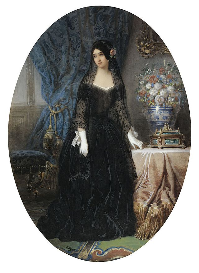 portrait of marie duplessis 1824 1847, la dame aux camélias, c 1840 private collection artist   olivier, jean charles active 1840s photo by fine art imagesheritage imagesgetty images