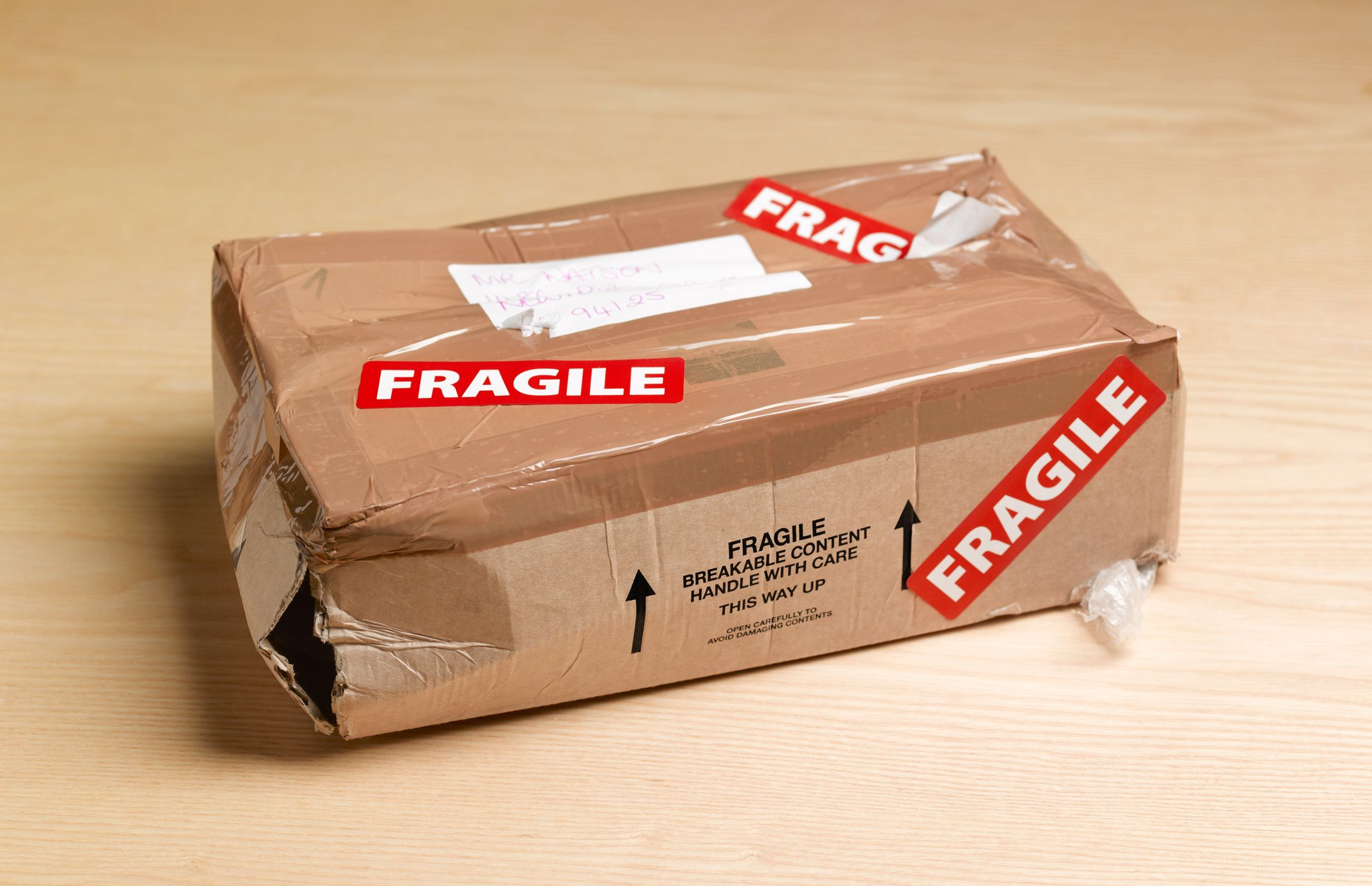 It's not their fault that your package is damaged.