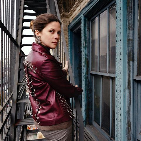 Beauty, Fashion, Jacket, Leather jacket, Outerwear, Leather, Textile, Window, Door, Photography,