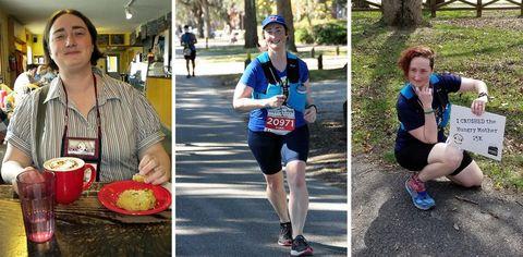 mujer, pierde, peso inspiración, ultramaratones, abuelo