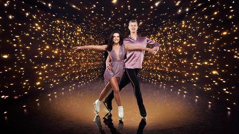 faye brooks, hamish gaman, dancing on ice 2021 contestant