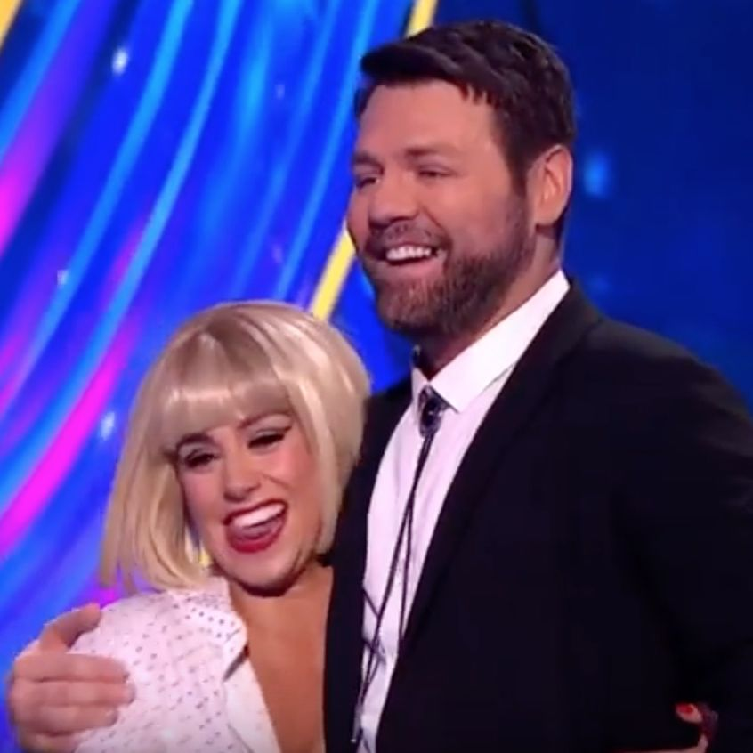 Dancing on Ice's Brian McFadden incorporates Boyzone's Keith Duffy into his routine