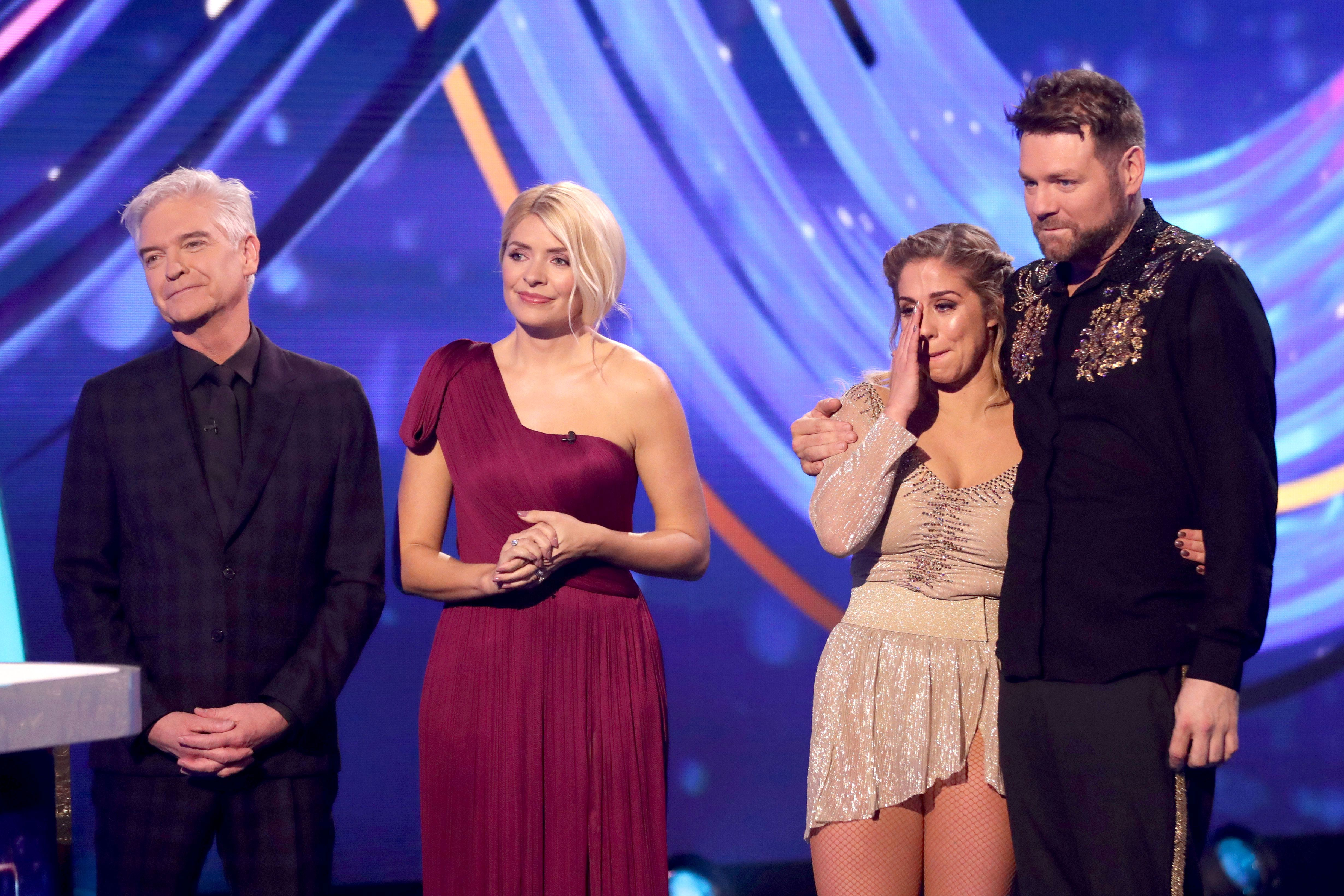 Dancing On Ice Professional Alex Murphy Cries After Semi Final Skate