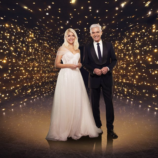 this image and the information contained herein is strictly embargoed until 0001 tuesday 12th january 2021from itv studiosdancing on ice sr13 on itvpictured holly willoughby and phillip schofieldthis photograph is c itv plc and can only be reproduced for editorial purposes directly in connection with the programme or event mentioned above, or itv plc once made available by itv plc picture desk, this photograph can be reproduced once only up until the transmission tx date and no reproduction fee will be charged any subsequent usage may incur a fee this photograph must not be manipulated excluding basic cropping in a manner which alters the visual appearance of the person photographed deemed detrimental or inappropriate by itv plc picture desk  this photograph must not be syndicated to any other company, publication or website, or permanently archived, without the express written permission of itv picture desk full terms and conditions are available on the website wwwitvcompresscentreitvpicturestermsfor further information please contactjameshilderitvcom  0207 157 3052