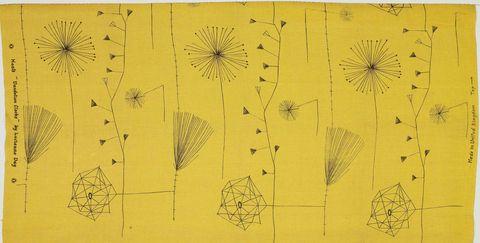 dandelion clocks fabric design by lucienne day