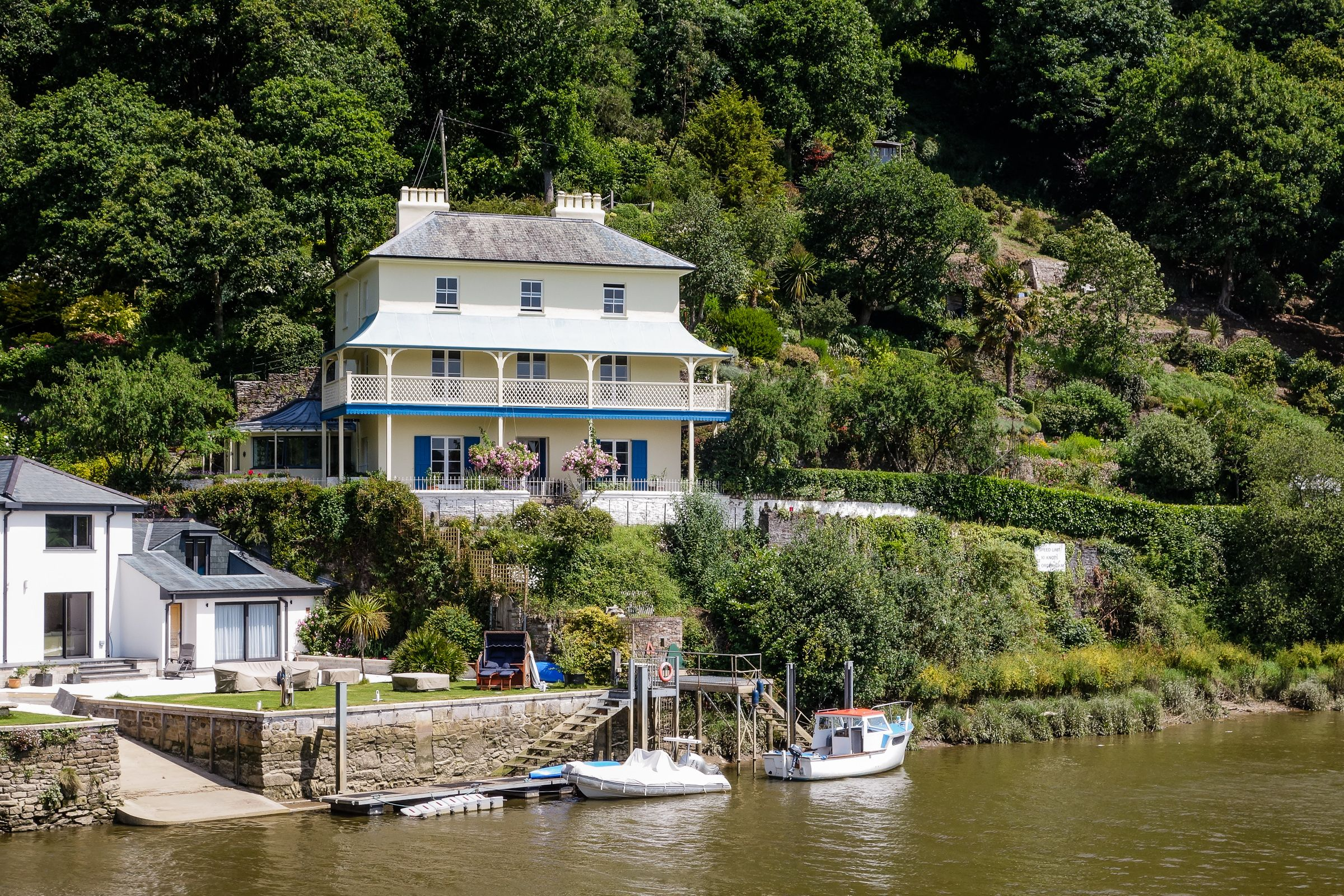 Stunning Victorian villa in picturesque riverside setting is for sale in Cornwall