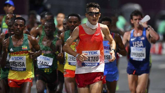 el atleta dani mateo corre el maratón del mundial de atletismo de doha 2019