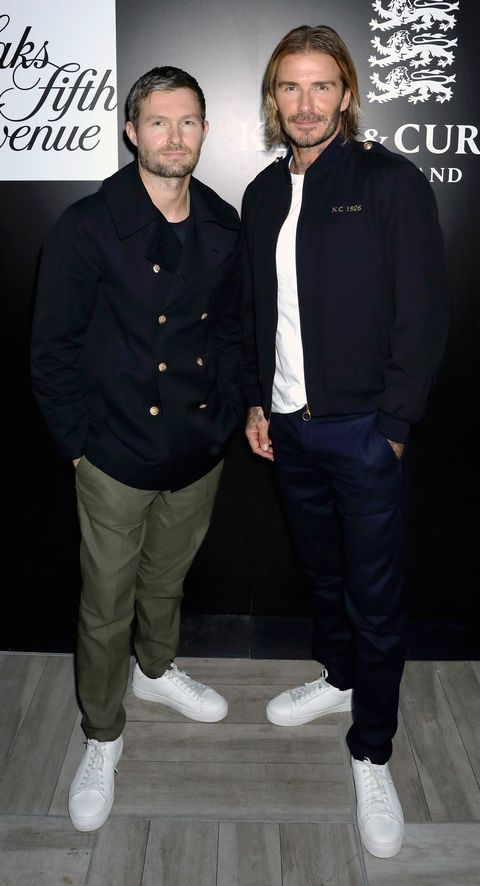 Daniel Kearns And David Beckham At The Saks Launch Event For Kent Curwen