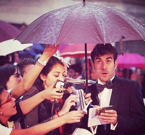 Umbrella, Cool, Snapshot, Fashion accessory, Fun, Event, Smile, Crowd, Photography, Happy,