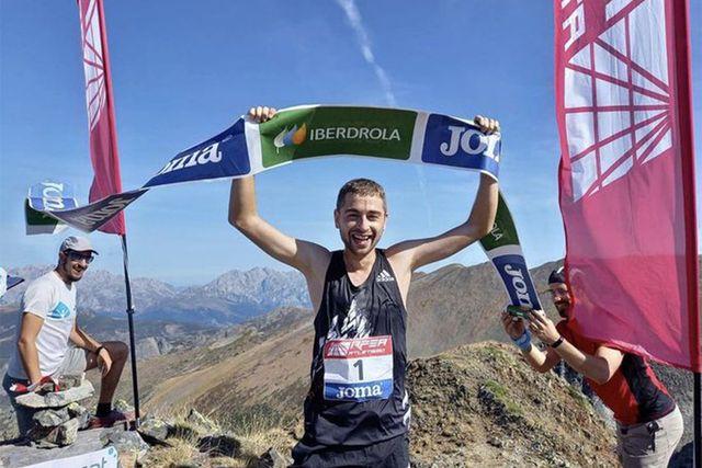 daniel osanz, campeón de españa de subida vertical
