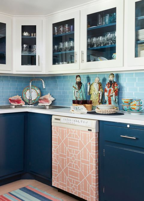countertop, cabinetry, room, kitchen, furniture, blue, turquoise, property, tile, interior design,