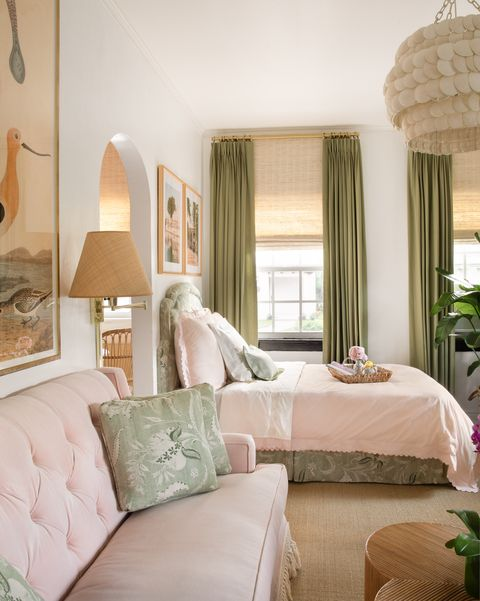 Bedroom, Furniture, Room, Bed, Interior design, Property, Bed frame, Curtain, Bed sheet, Wall,