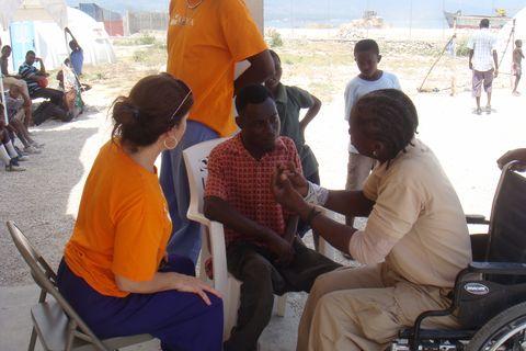 danielle bootin in haiti in 2010