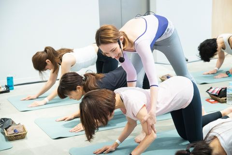 Physical fitness, Pilates, Yoga, Exercise, Stretching, Hand, Individual sports, Performance, Balance, Mat,