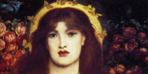 Dante Gabriel Rossetti (1828 - 1882) English poet and artist. He was a founder of the Pre-Raphaelite Brotherhood. Venus Verticordia 1864-66. Venus Verticordia (Venus the Changer of Hearts), the protector against vice...