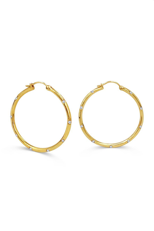 Lovely Cheap /& Chic Gold Earrings Gold Heart Hoop Earrings Gold Hoops