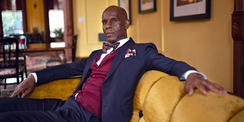Suit, Outerwear, Event, Formal wear, Uniform, Businessperson,