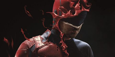 Red, Human, Neck, Human body, Organism, Flesh, Illustration, Fictional character, Carmine, Plant,