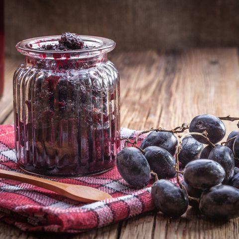 Dark grape jam