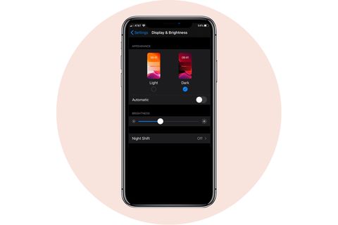 dark mode apple iphone
