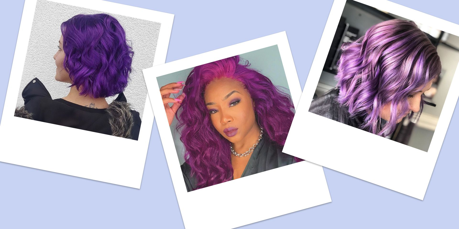 Dark Purple Hair Ideas Shades Of Purple Hair Dye