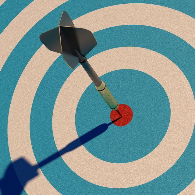 dart in bull's eye