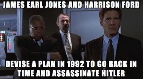 darth vader, indiana jones y hitler forman parte de un meme que es ya histórico los dos primero urdieron un plan para viajar en el tiempo y asesinar al tercero