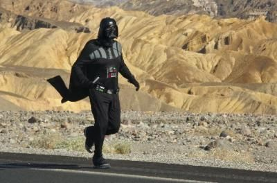 A 6:36 Mile in Death Valley While Dressed as Darth Vader