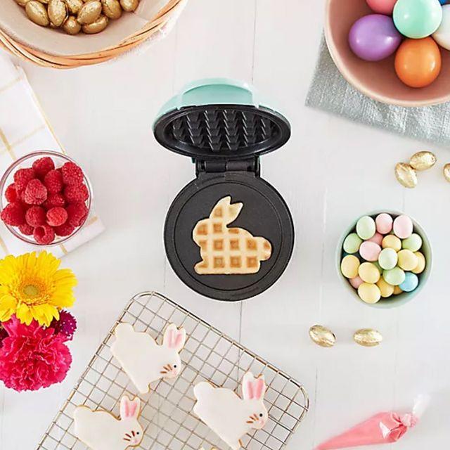 dash easter bunny mini waffle maker