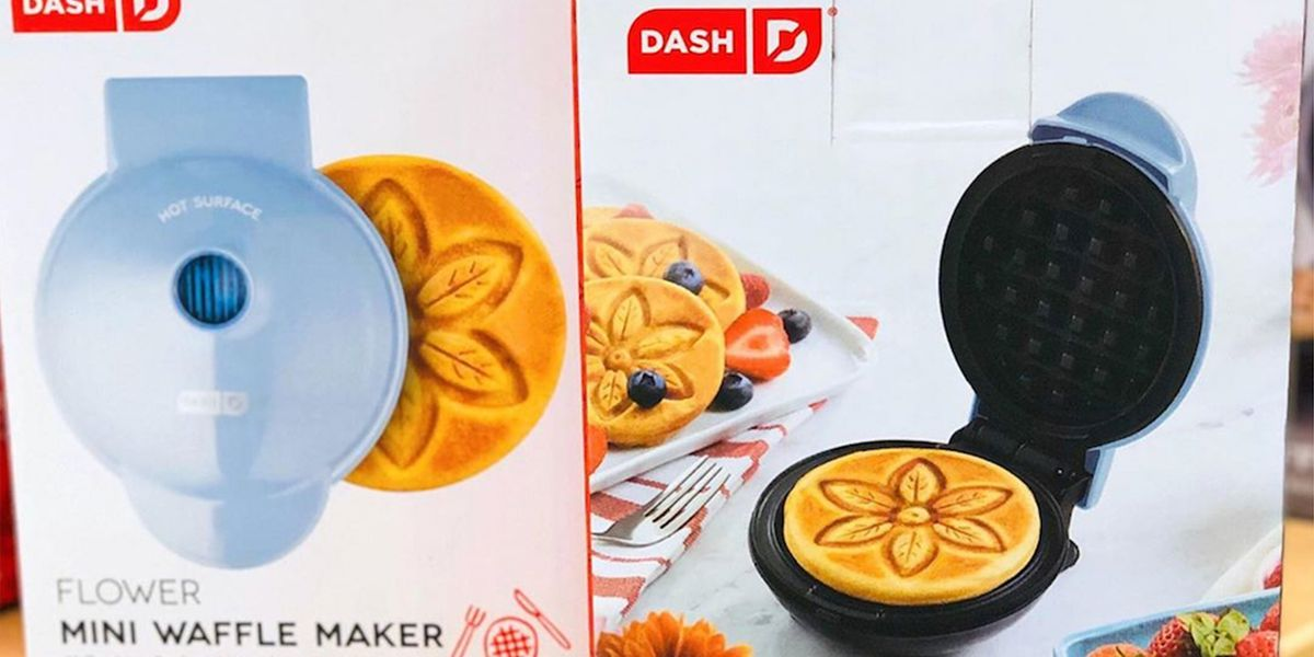 Target Is Selling A New Dash Mini Waffle Maker With An Adorable Flower Design