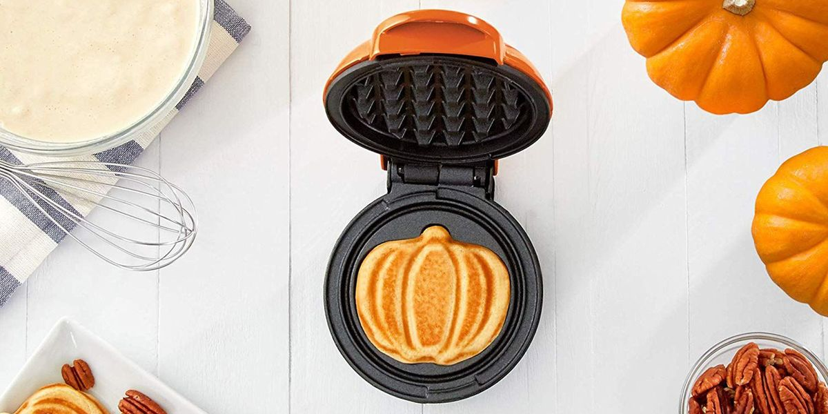 You Can Get a $10 Mini Pumpkin Waffle Maker on Amazon for a Festive Lil Breakfast