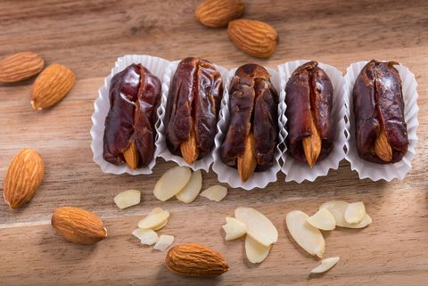 Dates and red almond