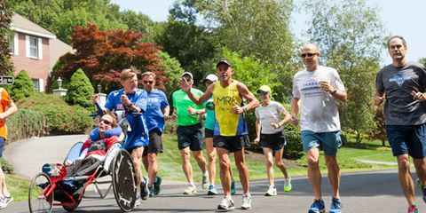Dave McGillivray 60th birthday run with group