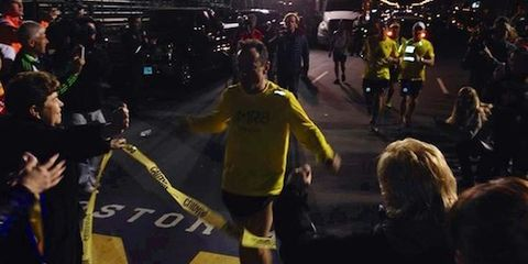 Dave McGillivray finishes 2014 Boston Marathon