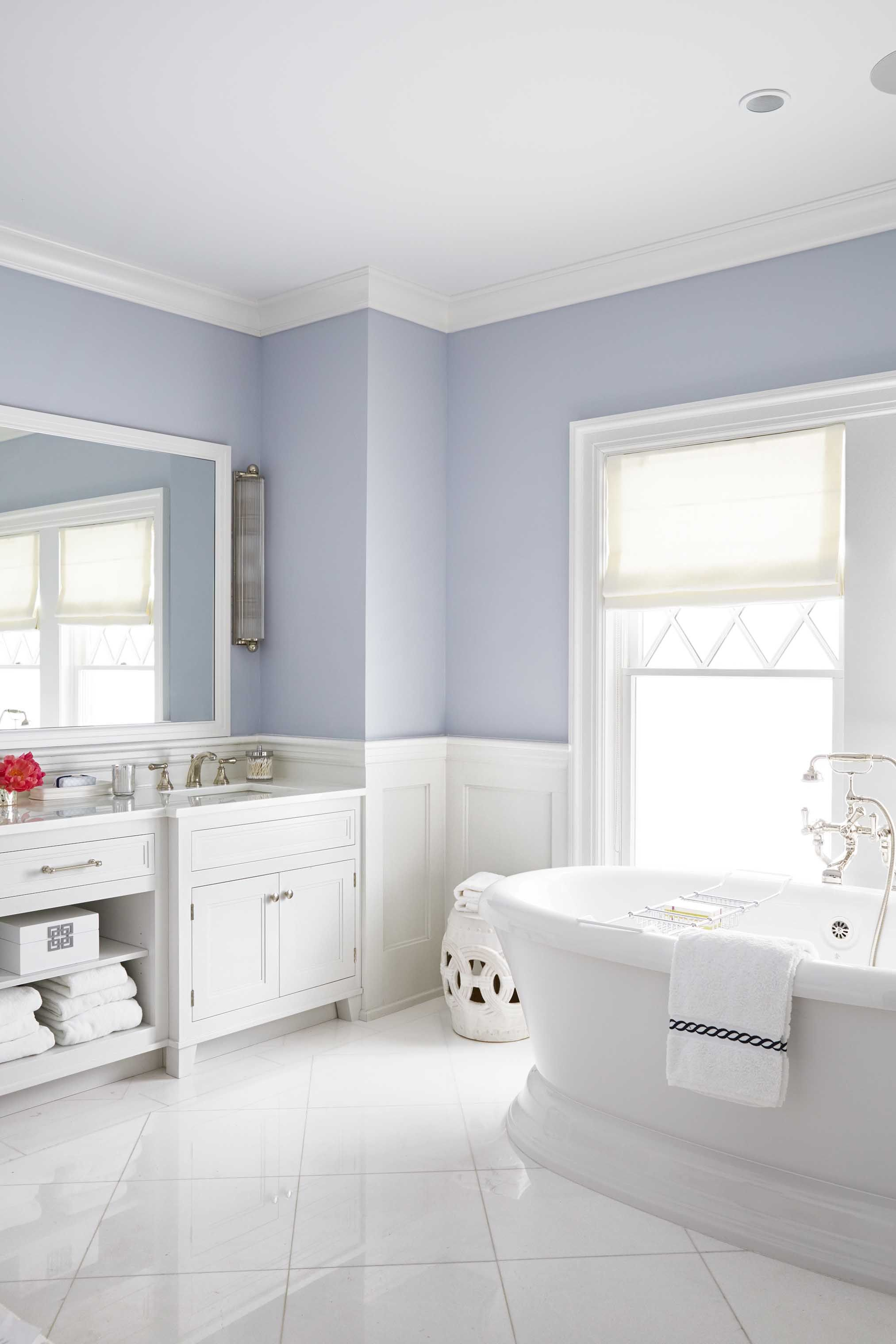 20 best bathroom paint colors popular ideas for bathroom wall colors rh goodhousekeeping com bathroom color schemes 2019 bathroom color schemes gray
