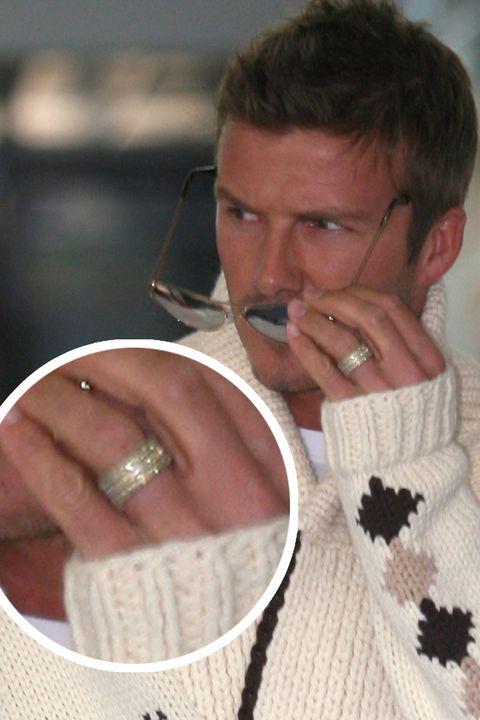 David Beckham wedding band marriage ring マリッジリング セレブ 男性 結婚指輪