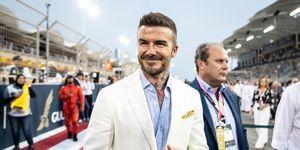 David Beckham americana color claro