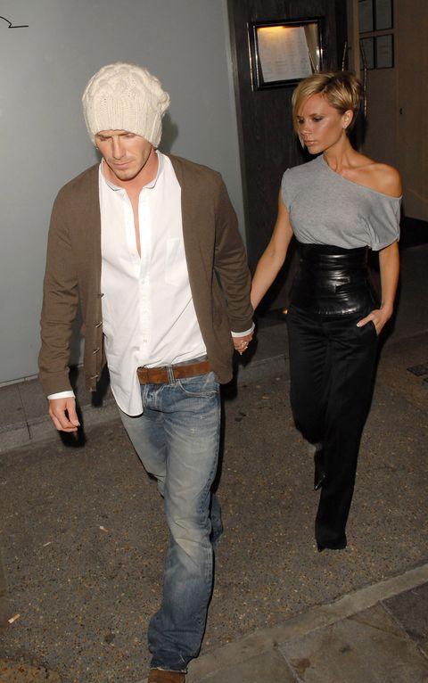 David and Victoria Beckham Sighting at Nobu - March 26, 2007