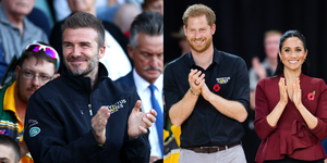David Beckham joined the Duke and Duchess of Sussex at the 2018 Invictus Games