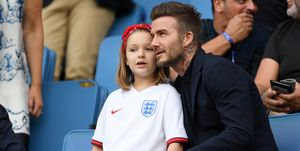 David and Harper Beckham - 2019 FIFA Women's World Cup France
