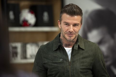 David Beckham Celebrates House 99 At Galeries Lafayette Champs Elysees In Paris