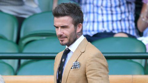 David Beckham durante el torneo de Wimbledon
