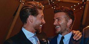 David Beckham y Sergio Ramos boda Sergio Ramos y Pilar Rubio