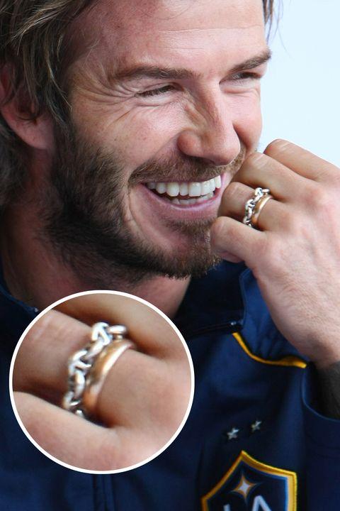 LA Galaxy Arrive In Sydney David Beckham wedding band mens marraige ring