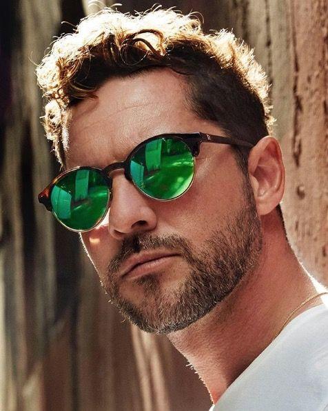 Eyewear, Sunglasses, Hair, Facial hair, Glasses, Cool, Beard, Green, Hairstyle, Moustache,