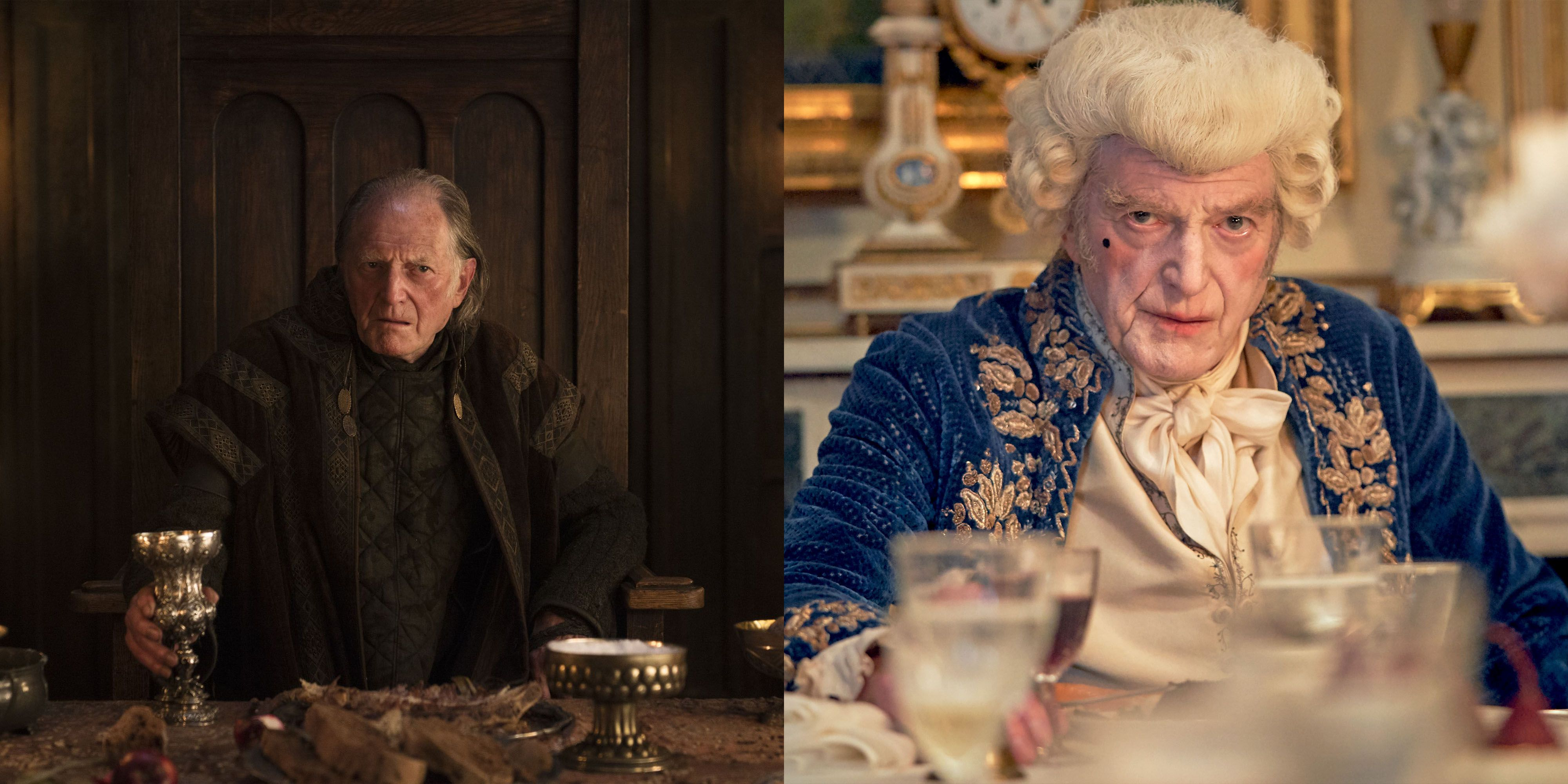 David Bradley Arya Stark finally crossed Walder Frey off her list and Bradley's next role was a 180, as Moniseur Gillenormand in the BBC's Les Misérables .