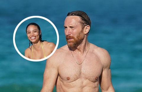 david guetta y su novia, jessica ledon, lucen cuerpazo en las playas de miami