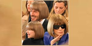 Meme de David Beckham, Harper Seven y Anna Wintour con corte de pelo bob short
